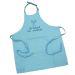 Tablier sommelier en coton turquoise personnalisé
