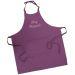 Tablier sommelier en coton violet personnalisé