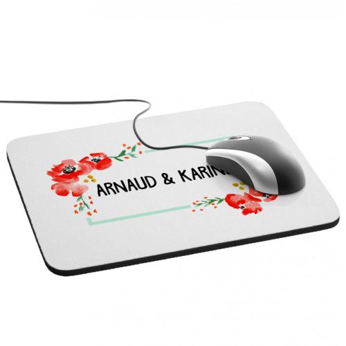 Tapis de souris aquarelle personnalisée