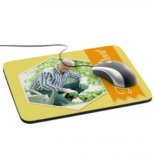 Tapis de souris photo ruban jaune