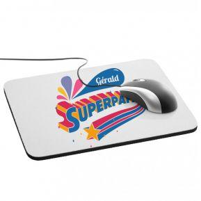 Tapis de souris Super Papa personnalisé prénom