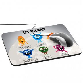 Tapis de souris My Monster Family
