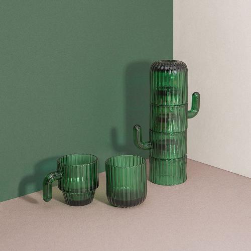 Tasse à café Cactus en verre
