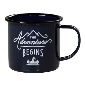 Mug émaillé The Adventure Begins bleu