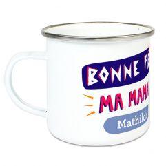 Tasse émaillée Bonne fête ma Maman
