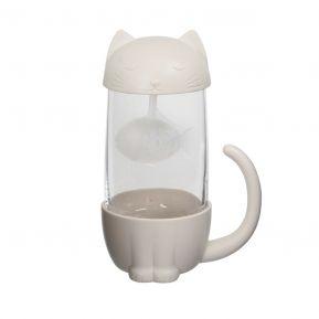 Infuseur à thé et tasse cat