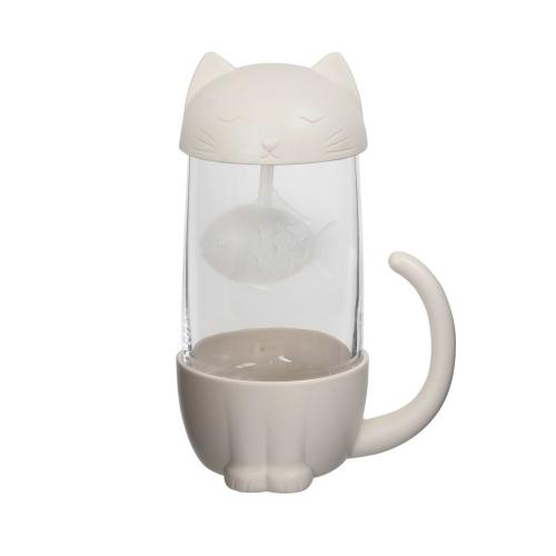 Infuseur à thé et tasse chat