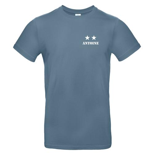 T-shirt homme personnalisé 2 étoiles