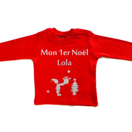 Tee-shirt premier Noël personnalisé