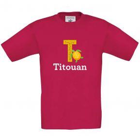 T-shirt enfant personnalisé alphabet animal