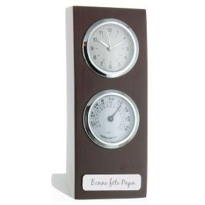 Horloge-thermomètre personnalisée