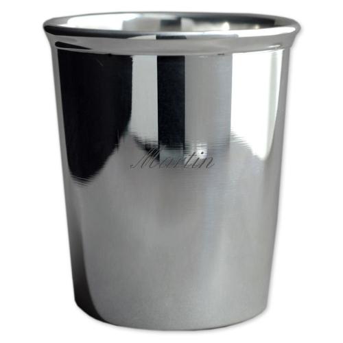 Timbale sertie en métal argenté