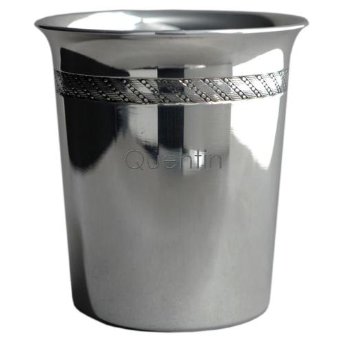 Timbale tambourin en métal argenté