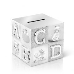 Tirelire cube Alphabet