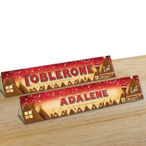 Toblerone de Noël personnalisé prénom - 360g Lait