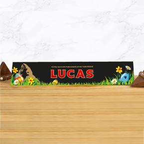 Toblerone de Pâques personnalisé prénom - 360g Chocolat noir