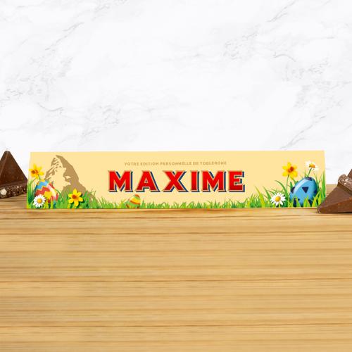 Toblerone de Pâques personnalisé prénom