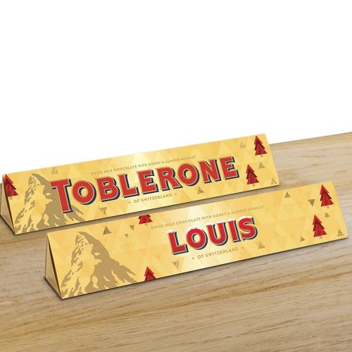 Toblerone Noël personnalisé prénom