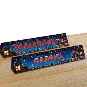 Toblerone de Noël personnalisé prénom - 360g Chocolat Noir
