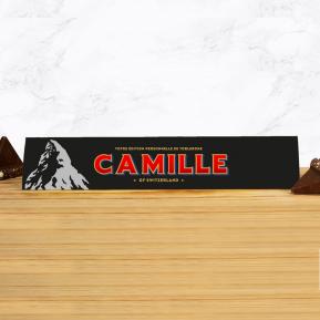 Toblerone 360g personnalisé prénom - Chocolat Noir