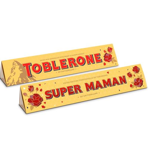 Toblerone personnalisé Bonne fête Maman