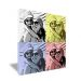 Toile pop art 4 photos couleurs chaudes