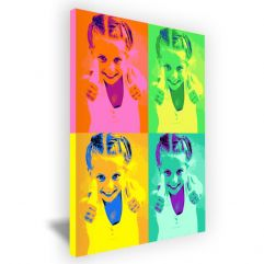 Toile Pop Art portrait 4 photos