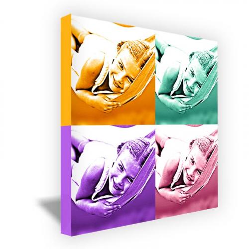 Toile carrée monochrome 4 photos