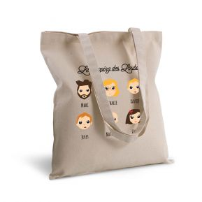 Tote bag deluxe personnalisé We Are Family