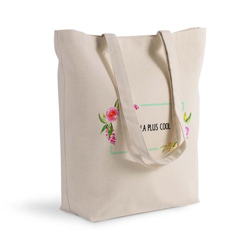 Sac shopping personnalisé aquarelle roses