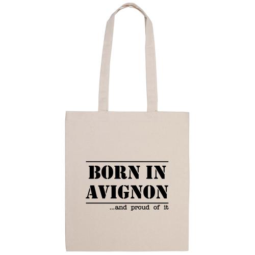 tote bag naturel imprimé born in