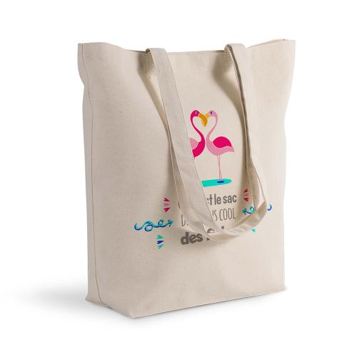 sac shopping personnalisé Flamnds rose