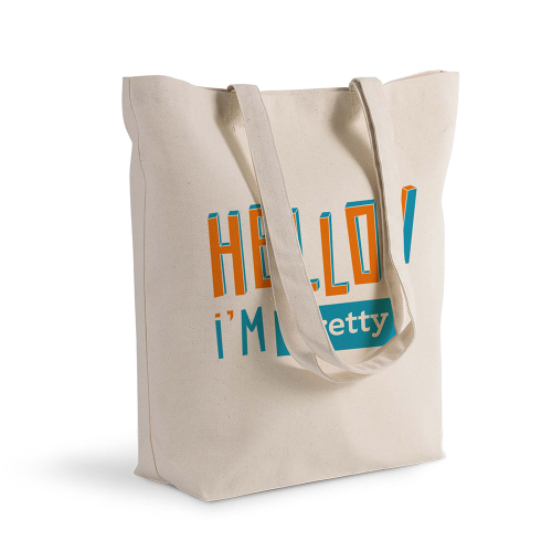tote bag personnalisé Hello orange