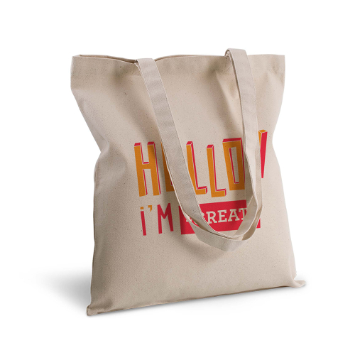 tote bag personnalisé Hello orange rouge