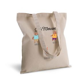 Tote bag deluxe personnalisé famille ours
