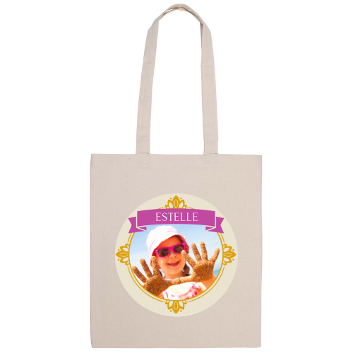 tote bag naturel imprimé photo royale