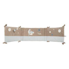 Tour de lit petit ours bleu brodé