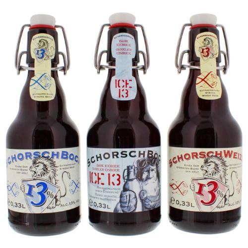 Trio de bières fortes