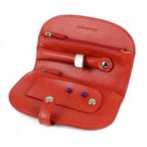 Trousse à bijoux de voyage en cuir