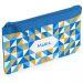 Trousse à crayons personnalisée mosaïque bleue
