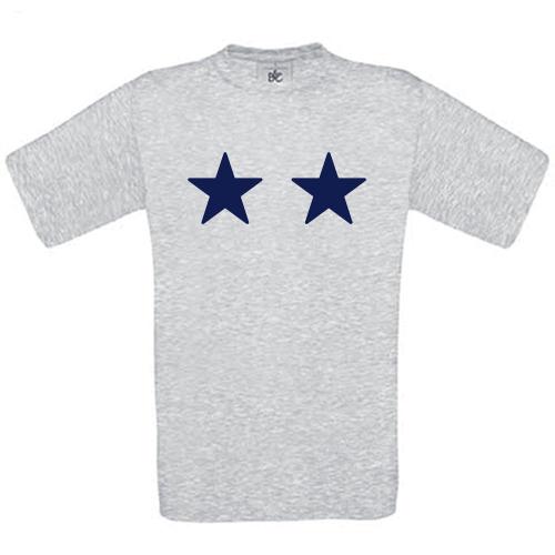 T-shirt enfant personnalisé 2 étoiles ash