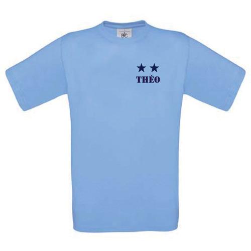 T-shirt enfant personnalisé 2 étoiles ciel