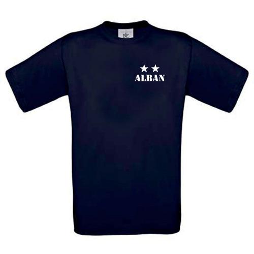 T-shirt enfant personnalisé 2 étoiles marine