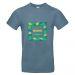 T-shirt bleu homme palmeraie