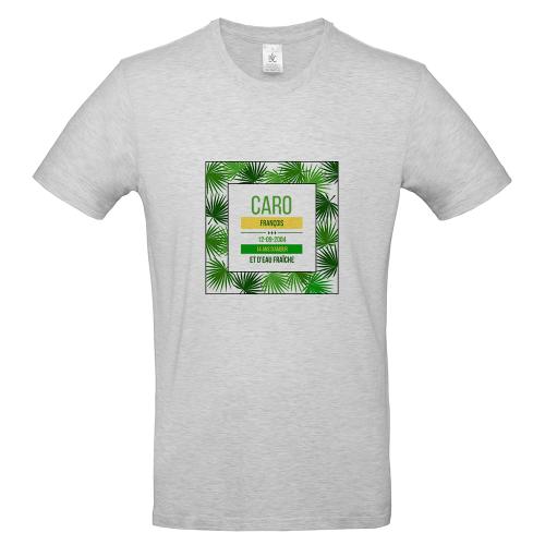 T-shirt ash homme palmeraie