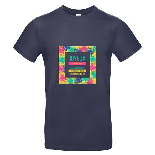 T-shirt marine homme palmeraie
