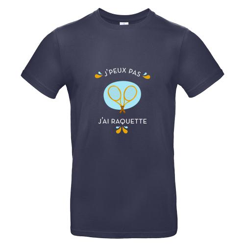 T-shirt homme personnalisé J'peux pas j'ai tennis