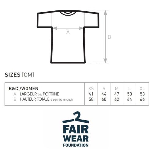 Dimensions Tshirt femme B&C
