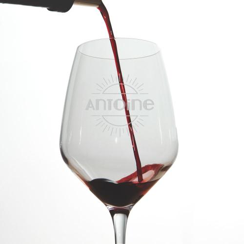 Verre à vin gravé Merci