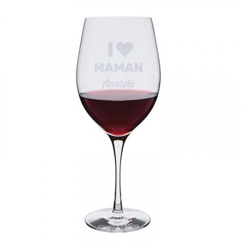 Verre à vin I love Maman